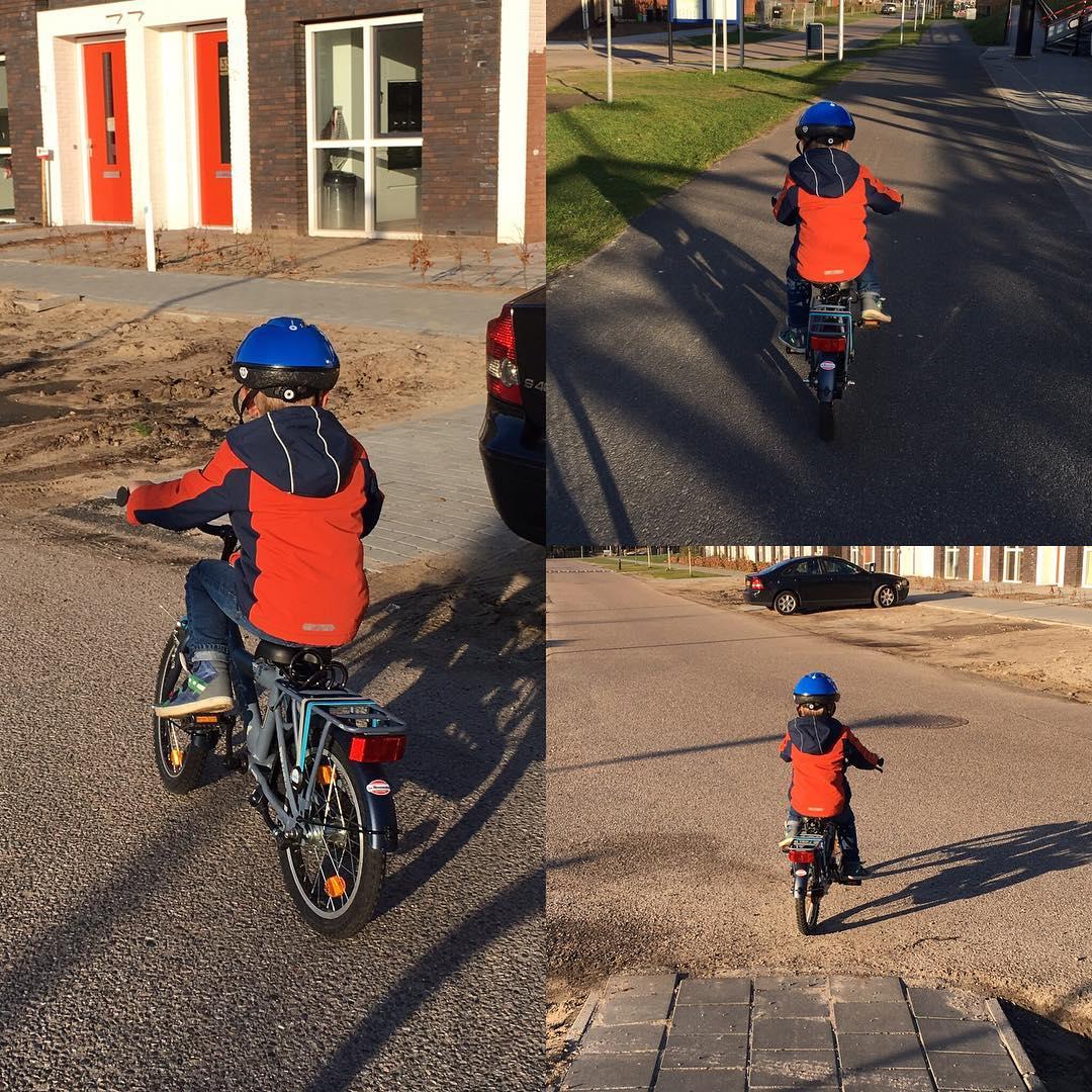 #goedemorgen365 op zijn eigen #fiets naar #school geweest vandaag