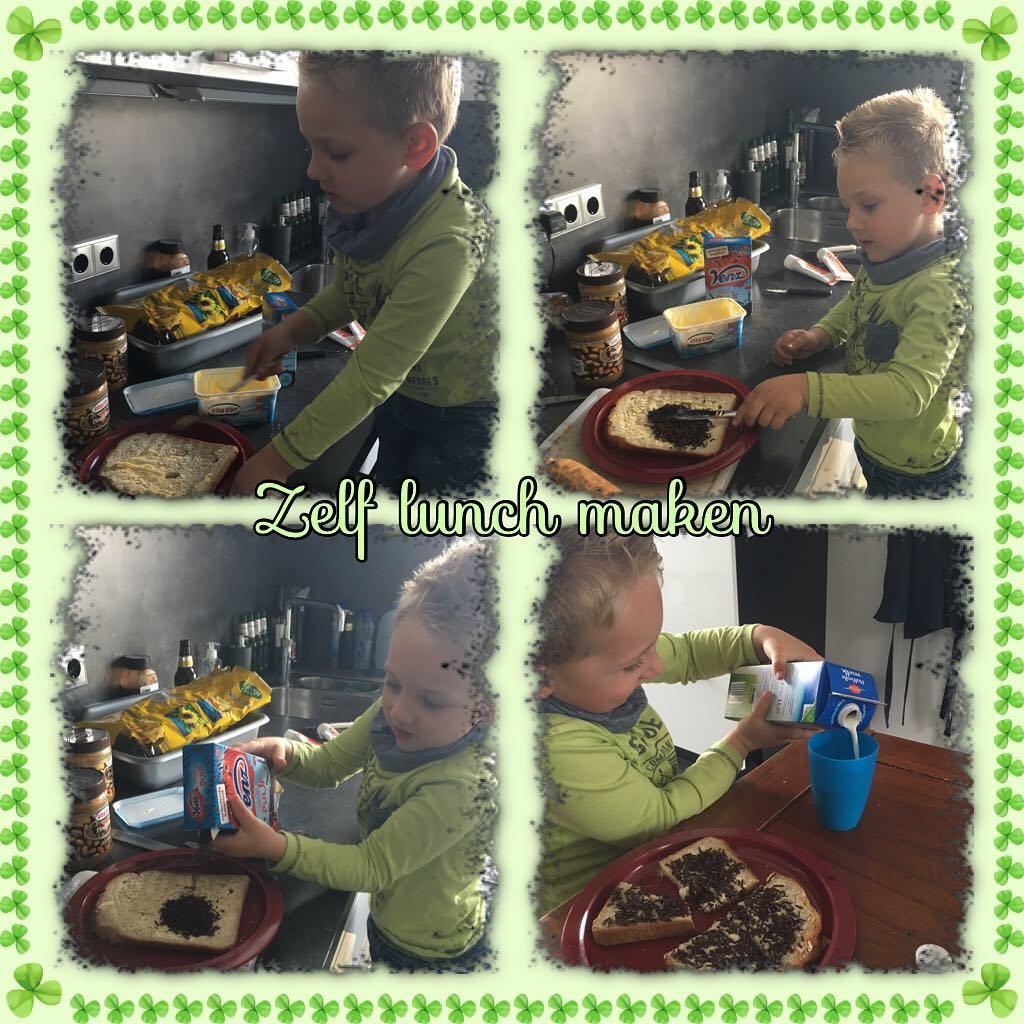 #goedemorgen365 ik kan het zelf hoor mama! #zelfdoen #lunchtime