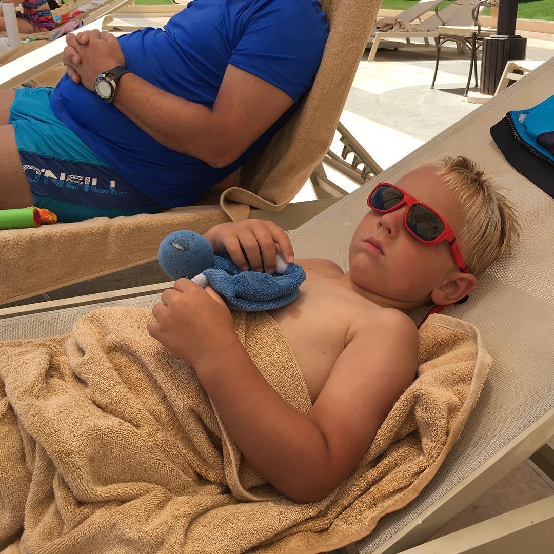 #goedemorgen365 #relaxen #uitrusten na het #zwemmen #vakantie2016