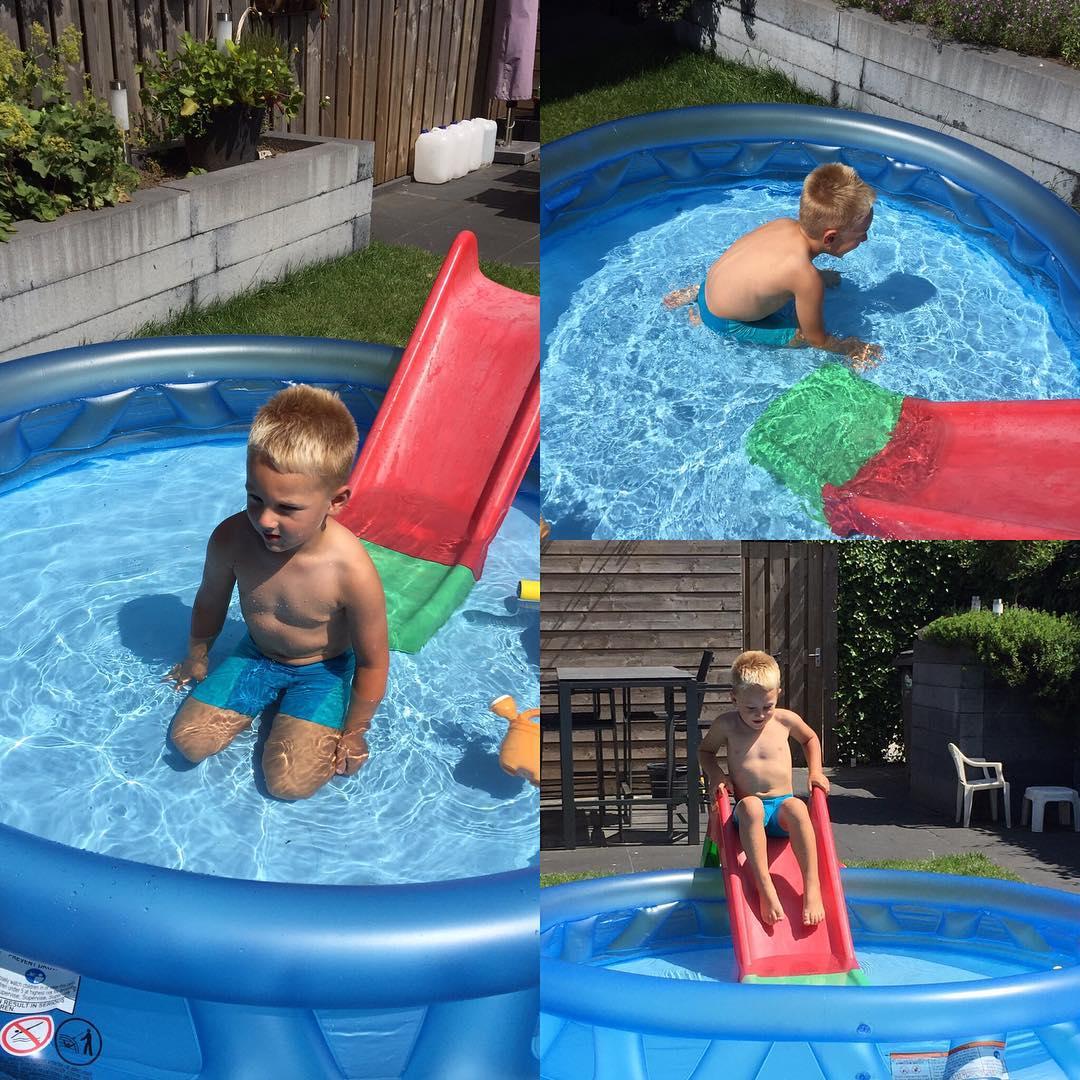 #goedemorgen365 lekker zwemmen in de achtertuin #blauwalg in #bussloo