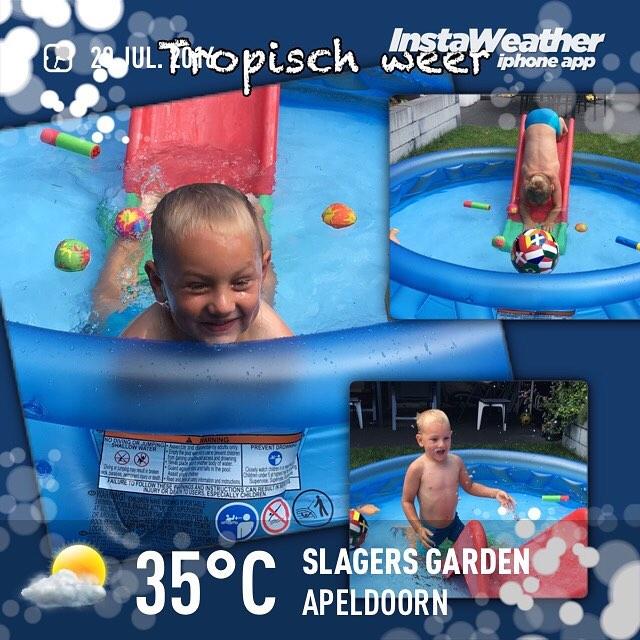 #goedemorgen365 lekker in het #zwembadje #tropisch #zomer2016