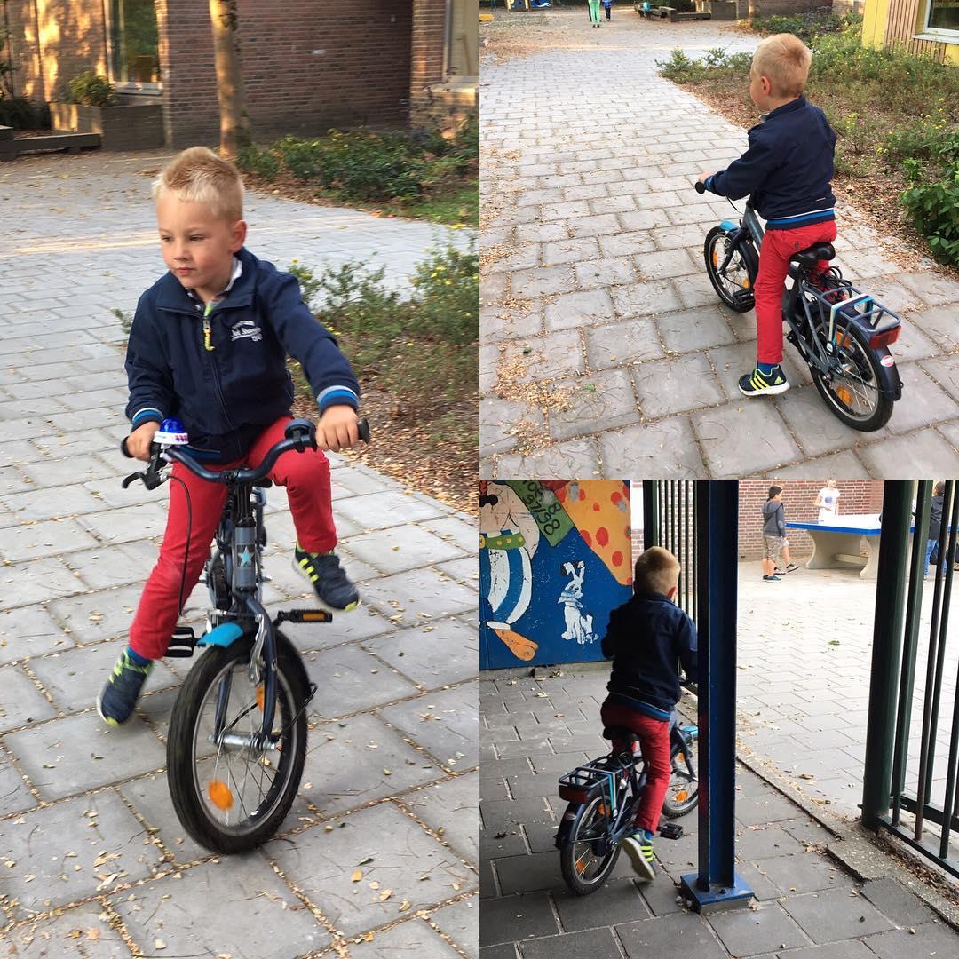 #goedemorgen365 op de #fiets naar #school #kleuter