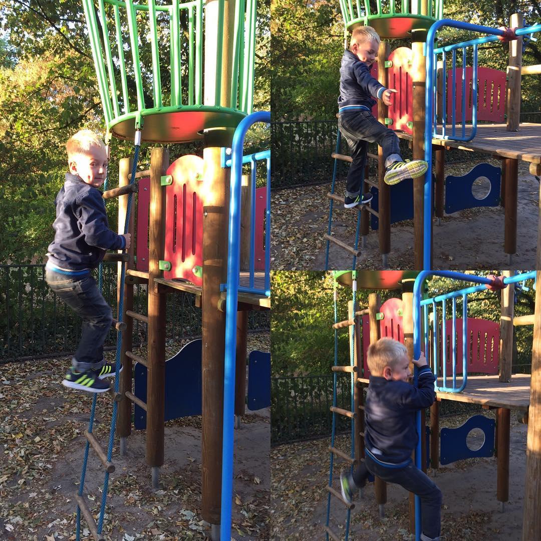#goedemorgen365 klimmen en glijden op het #schoolplein