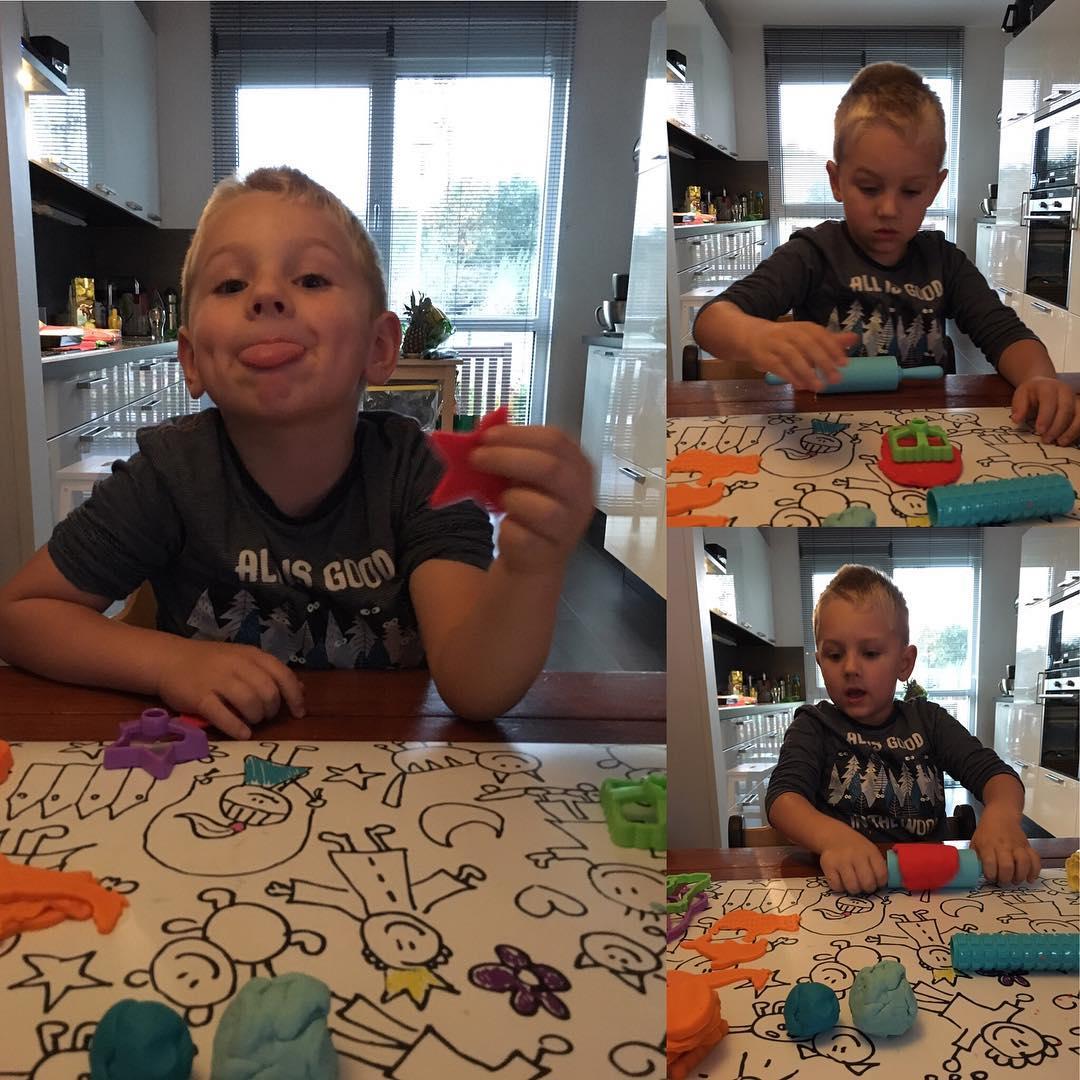 Lekker #creatief met #playdoh #kleien #tms